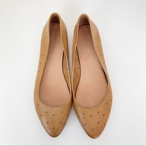 Madewell Hole Punch Patterned Flats Size 8